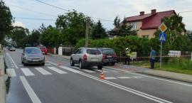 Zderzenie i potrącenie pieszej w Drohiczynie