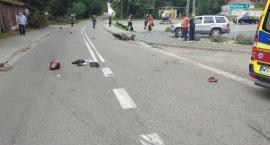Zderzenie motocykla z samochodem