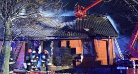 Pożar domu w centrum wsi