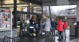 Ewakuacja w sklepie Lidl