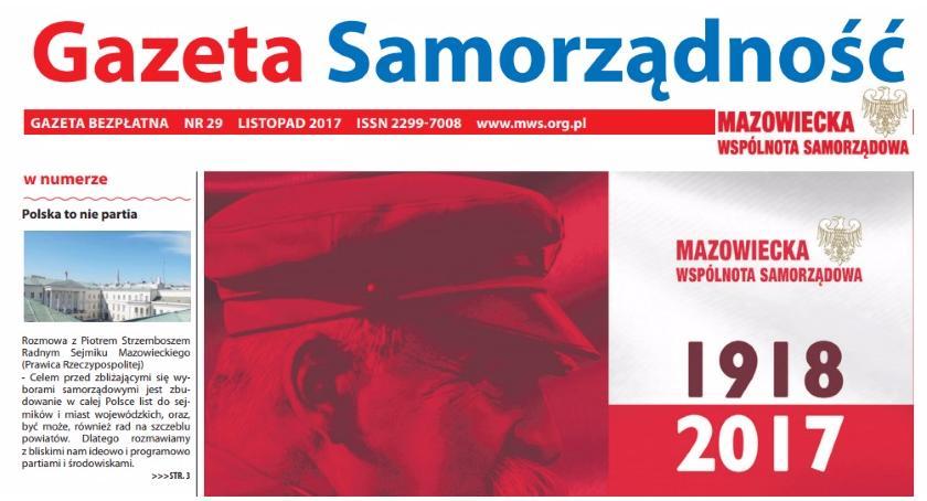 News, Listopadowy gazety Samorządność - zdjęcie, fotografia