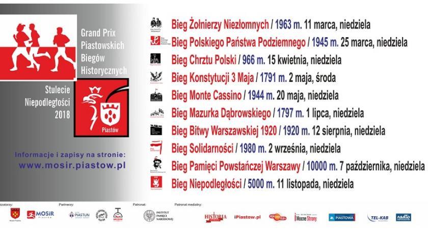 Zaproszenia, Historyczne bieganie Piastowie - zdjęcie, fotografia