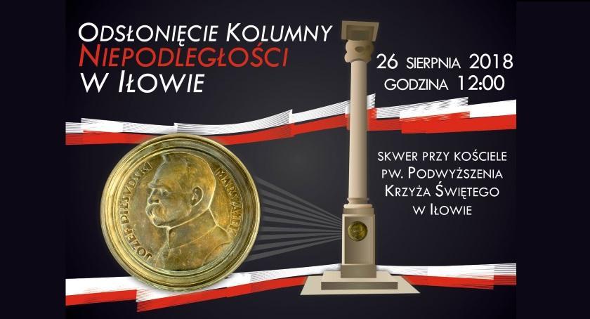 Zaproszenia, Powstanie Kolumna Niepodległości Iłowie - zdjęcie, fotografia