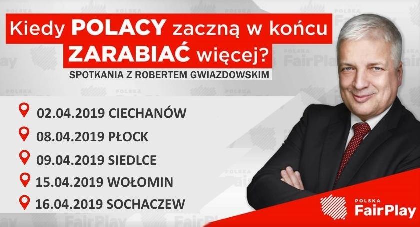 Zaproszenia, Spotkania Robertem Gwiazdowskim Mazowszu - zdjęcie, fotografia