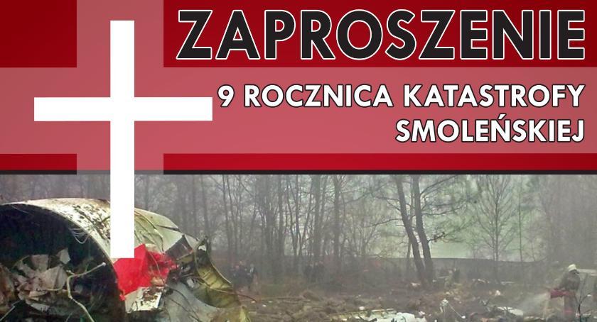 Zaproszenia, Uroczystości rocznicę katastrofy smoleńskiej Grzybowie - zdjęcie, fotografia