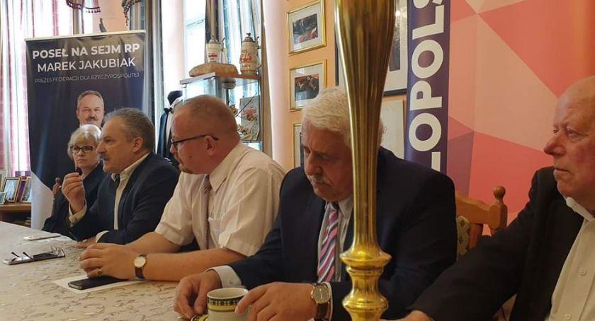 Wybory 2019, Konferencja Marka Jakubiaka naprawy kraju - zdjęcie, fotografia