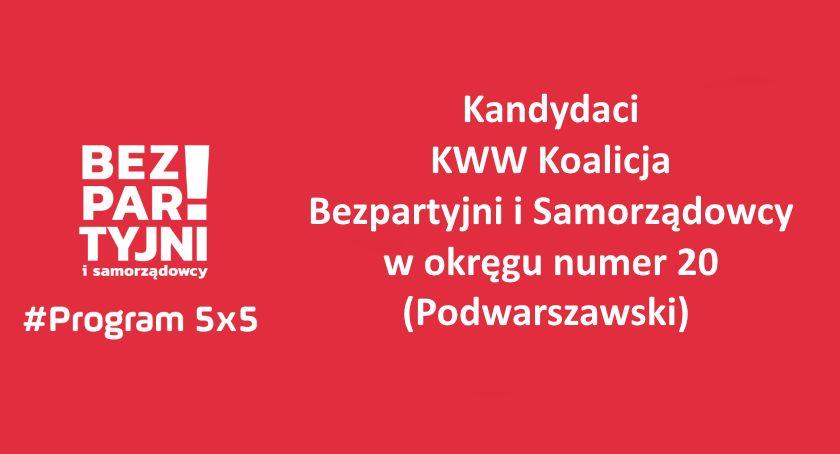 Wybory 2019, Kandydaci Bezpartyjnych Samorządowców okręgu Podwarszawski - zdjęcie, fotografia
