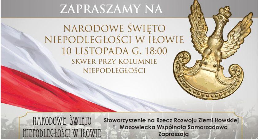 Zaproszenia, Uroczystości rocznicę Odzyskania Niepodległości Iłowie - zdjęcie, fotografia