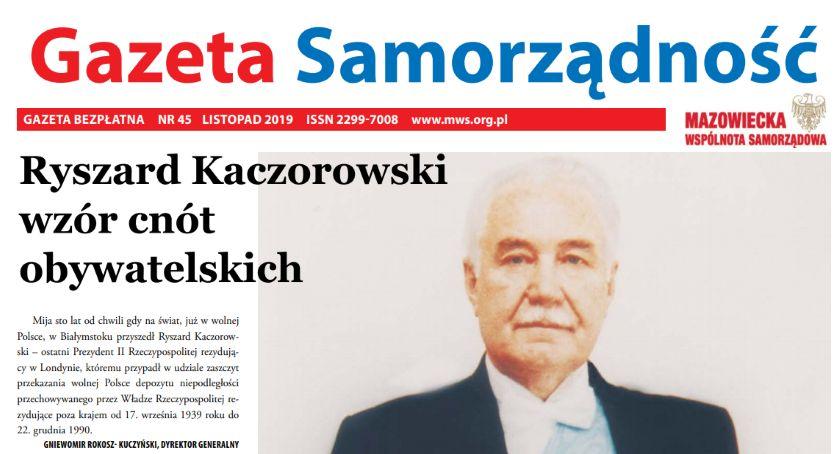 News, Listopadowy numer gazety Samorządność [ONLINE] - zdjęcie, fotografia