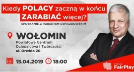 Spotkanie z Robertem Gwiazdowski w Wołominie