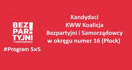 Kandydaci Bezpartyjnych i Samorządowców w okręgu nr 16 Płock