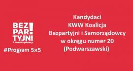 Kandydaci Bezpartyjnych i Samorządowców w okręgu nr 20 Podwarszawski