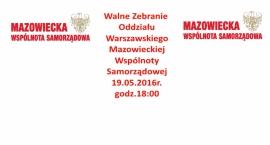 Walne Zebranie Oddziału Warszawskiego MWS