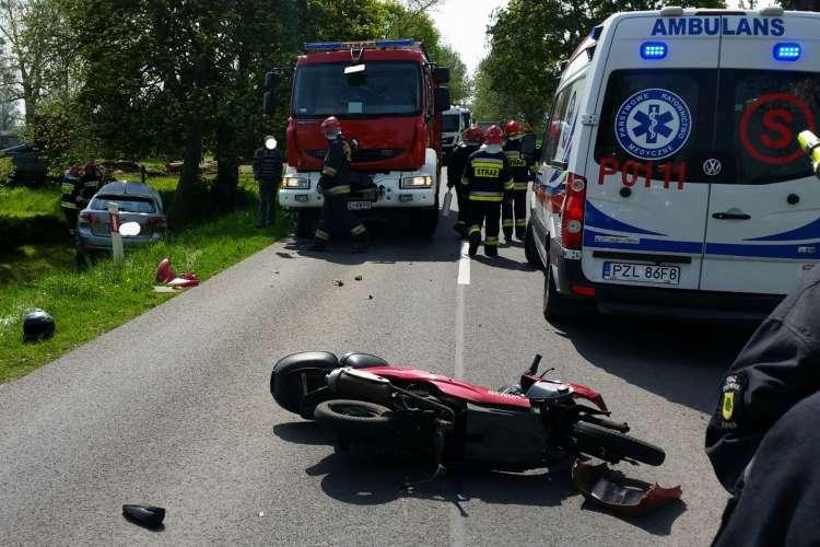 Wypadki drogowe, Wypadek trasie Lipka Zakrzewo - zdjęcie, fotografia