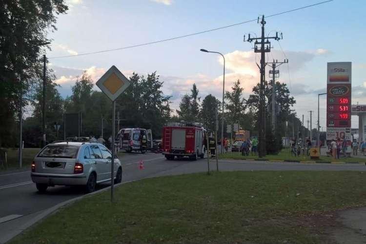 Wypadki drogowe, Wypadek udziałem motocyklisty Krajence - zdjęcie, fotografia