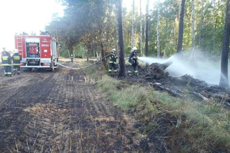 Straż pożarna, Kolejny pożar czasie polowych - zdjęcie, fotografia