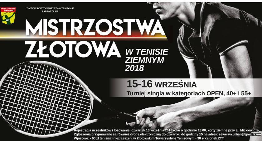 Tenis ziemny, Zaproszenie Mistrzostwa Złotowa tenisie ziemnym - zdjęcie, fotografia