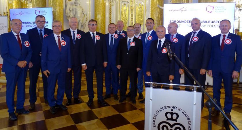 Samorządowcy, Ryszard Goławski Zgromadzeniu Jubileuszowym Związku Powiatów Polskich - zdjęcie, fotografia