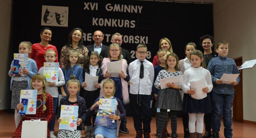 Konkursy i zawody, Gminny Konkurs Recytatorski dzieci młodzieży Sypniewie - zdjęcie, fotografia