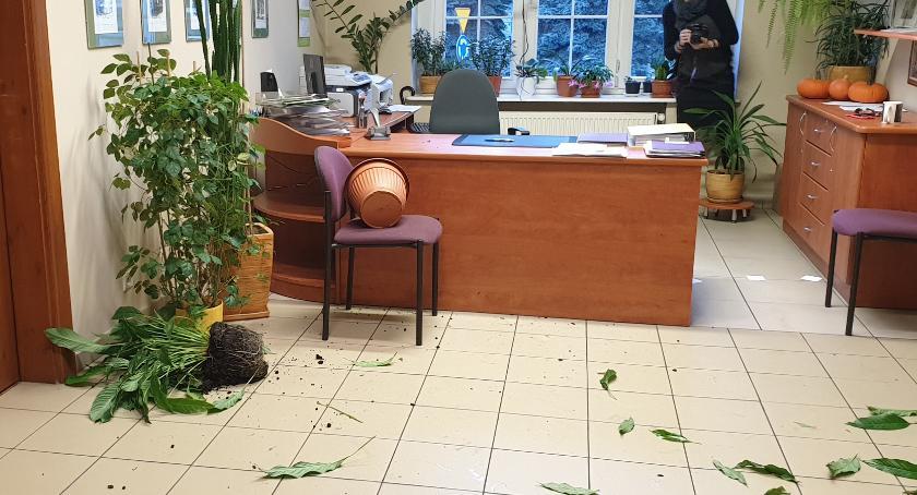 Kronika kryminalna, Wtargnął magistratu wystraszył urzędniczki [wideo] - zdjęcie, fotografia