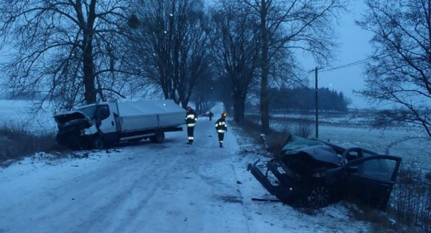 Wypadki drogowe, Kolizja trasie Lipka Czyżkowo - zdjęcie, fotografia