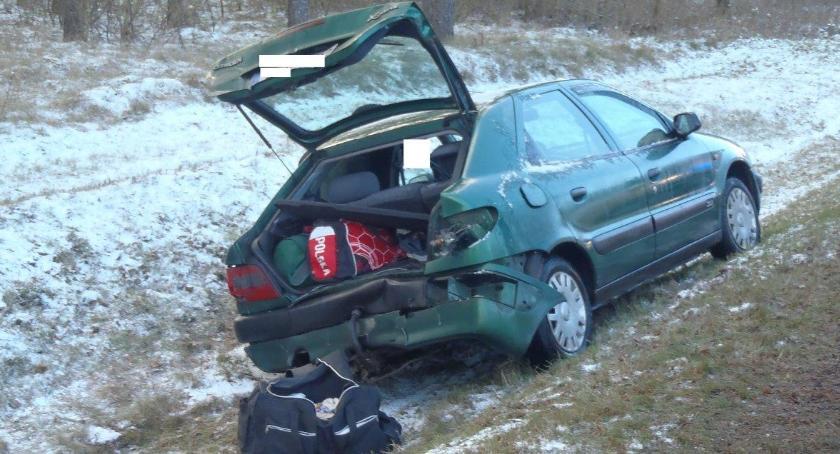 Wypadki drogowe, Kolizja krajówce - zdjęcie, fotografia
