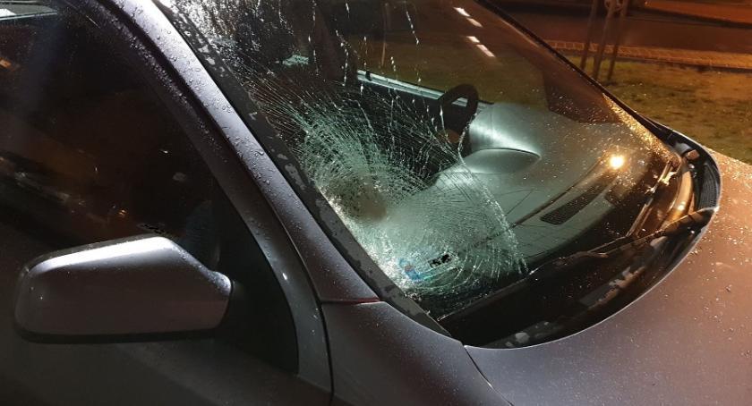 Wypadki drogowe, Potrącenie pasach Złotowie - zdjęcie, fotografia