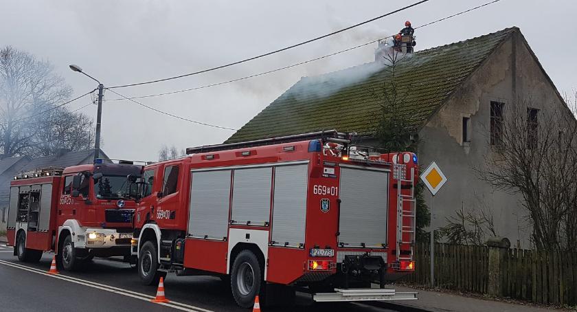 Straż pożarna, Pożar przewodu kominowego Górznej - zdjęcie, fotografia
