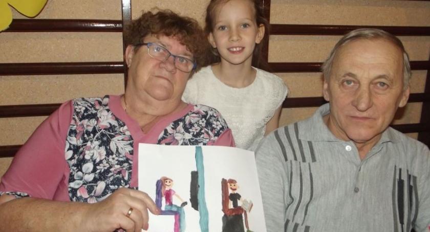 Uroczystości obchody, Herbatka babci dziadka - zdjęcie, fotografia