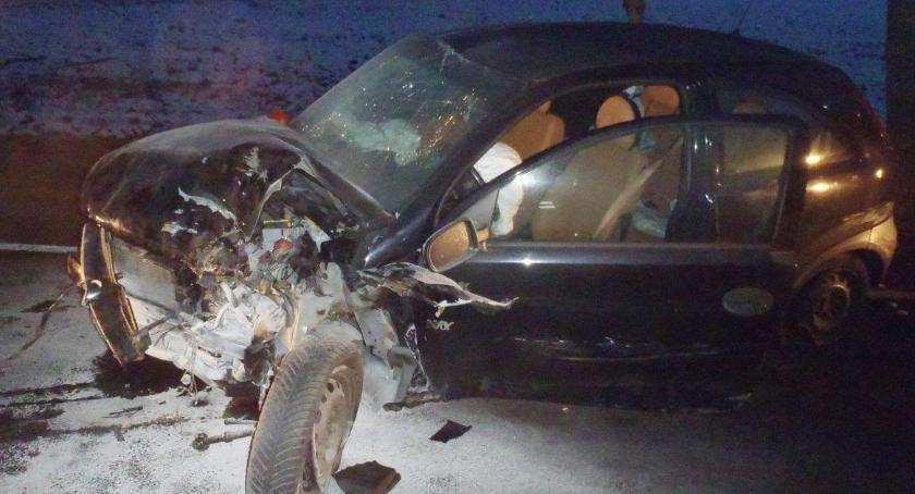Wypadki drogowe, osoby przetransportowane szpitala - zdjęcie, fotografia