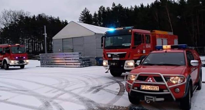 Straż pożarna, Pomógł detektor tlenku węgla - zdjęcie, fotografia