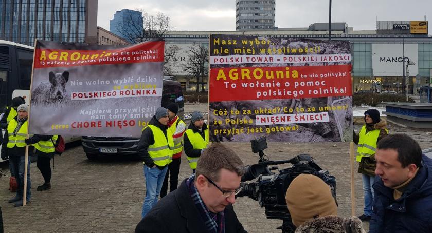 Rolnictwo, Protest rolników Warszawie - zdjęcie, fotografia