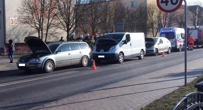 Wypadki drogowe, Kolizja Krajence - zdjęcie, fotografia