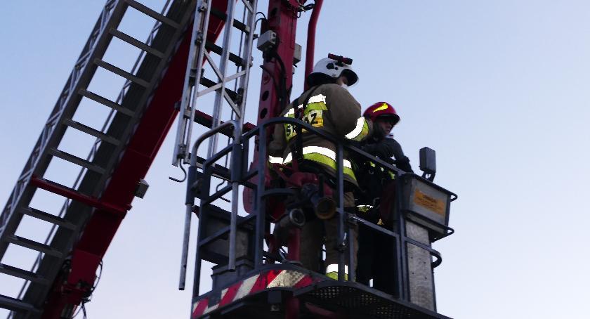 Straż pożarna, Kolejny komin ogniu - zdjęcie, fotografia