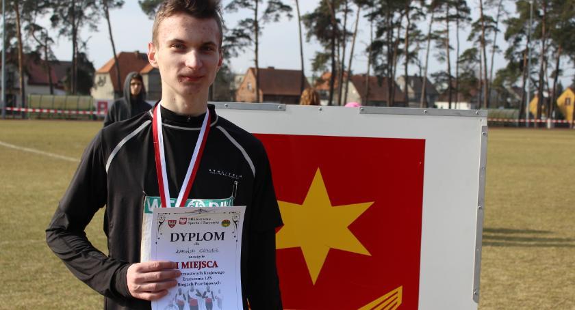Biegi, Złoty medal Oliwiera Mistrzostwach Polski Biegach Przełajowych - zdjęcie, fotografia