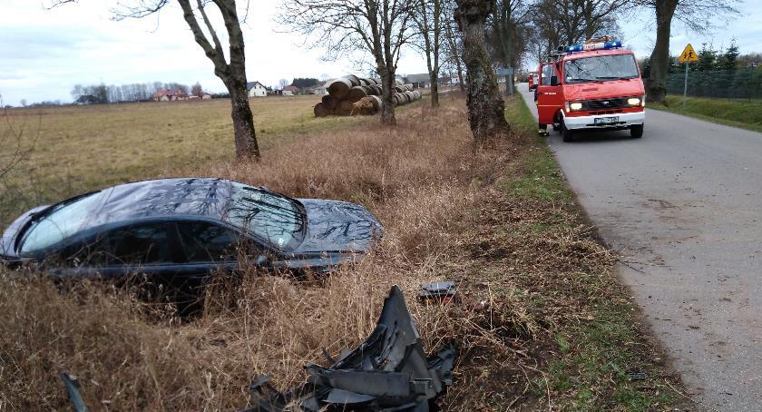Wypadki drogowe, Nietrzeźwy kierowca sprawcą kolizji - zdjęcie, fotografia