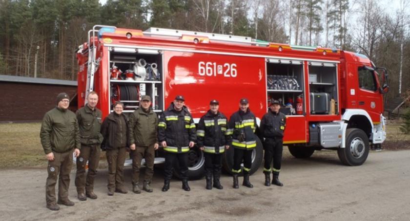 Straż pożarna, Strażacy operacyjnym rozpoznaniu kompleksu leśnego - zdjęcie, fotografia