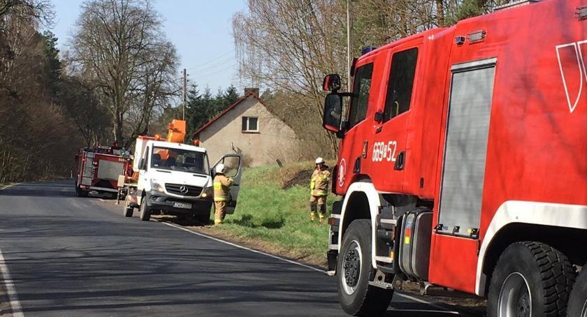 Straż pożarna, Pożar trawy - zdjęcie, fotografia