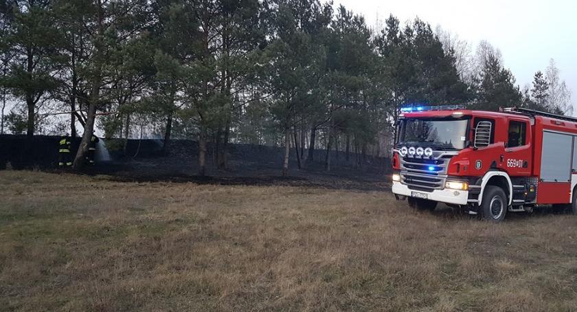 Straż pożarna, Pożar trawy Jastrowiu - zdjęcie, fotografia