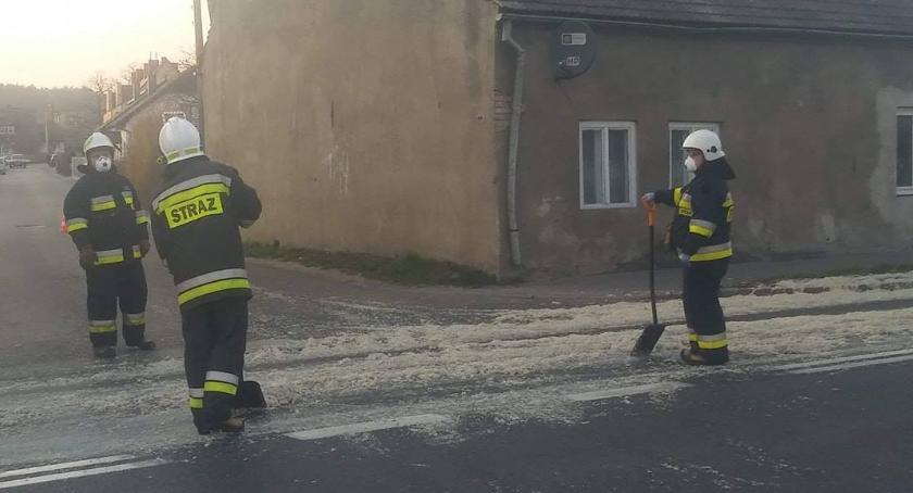 Straż pożarna, Odpady zwierzęce jezdni Jastrowiu - zdjęcie, fotografia