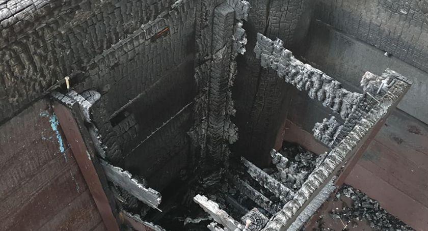 Straż pożarna, Ambona widokowa Złotowie ogniu - zdjęcie, fotografia
