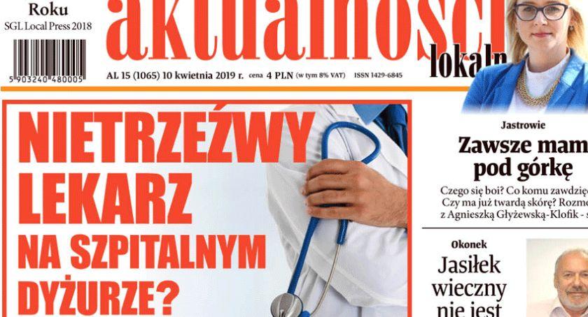 Komunikaty i przetargi, Nietrzeźwy lekarz szpitalnym dyżurze - zdjęcie, fotografia