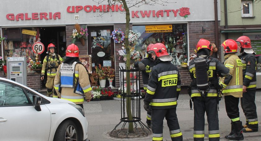 Straż pożarna, Strażacy zablokowali Wojska Polskiego - zdjęcie, fotografia