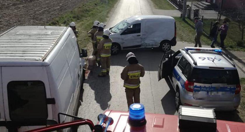 Wypadki drogowe, Kolizja drogowa Zakrzewie - zdjęcie, fotografia