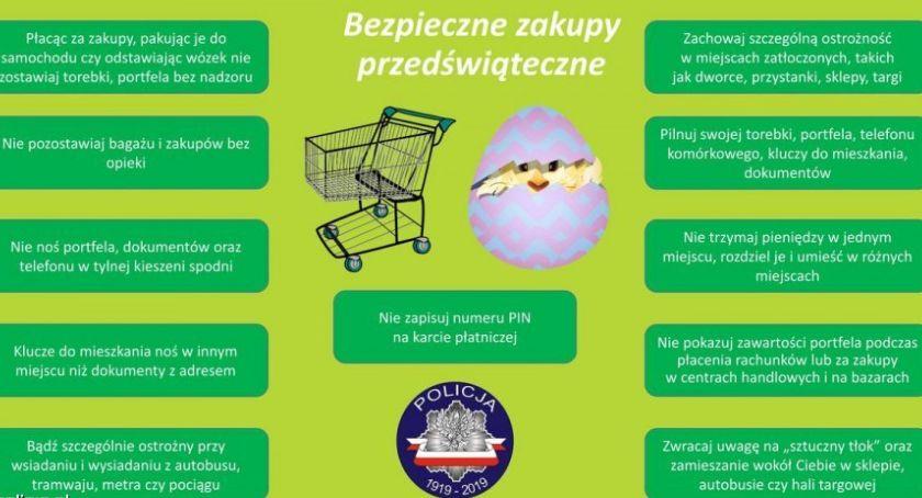 Policja - komunikaty i akcje, Bezpieczne zakupy przedświąteczne - zdjęcie, fotografia