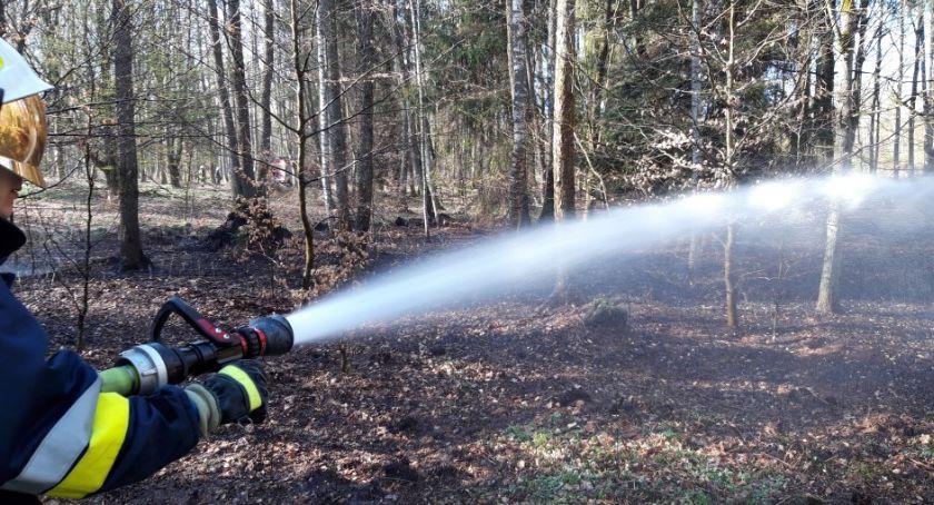 Straż pożarna, Lotyń Okonek akcji - zdjęcie, fotografia