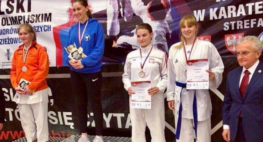 Karate Aikido - sztuki walki, Aleksandra Zając podium Mistrzostw Polski Karate Olimpijskim - zdjęcie, fotografia