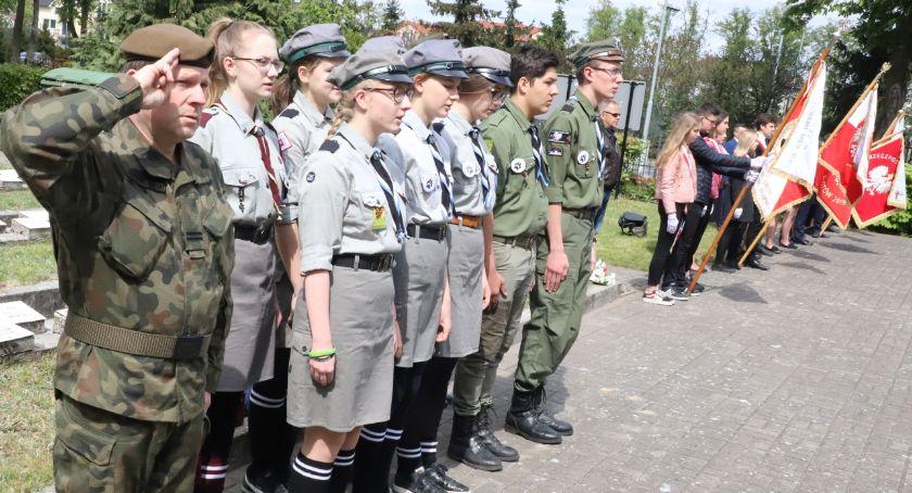 Uroczystości obchody, Złotowskie obchody rocznicy zakończenia Wojny Światowej - zdjęcie, fotografia
