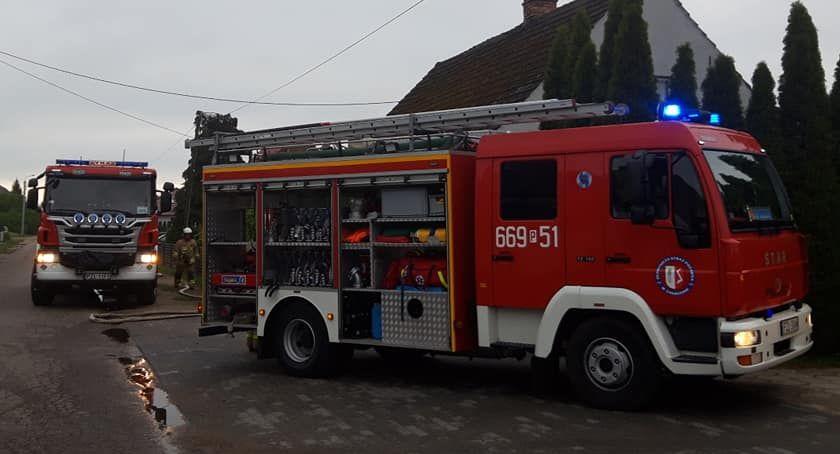 Straż pożarna, Pożar Zakrzewie - zdjęcie, fotografia