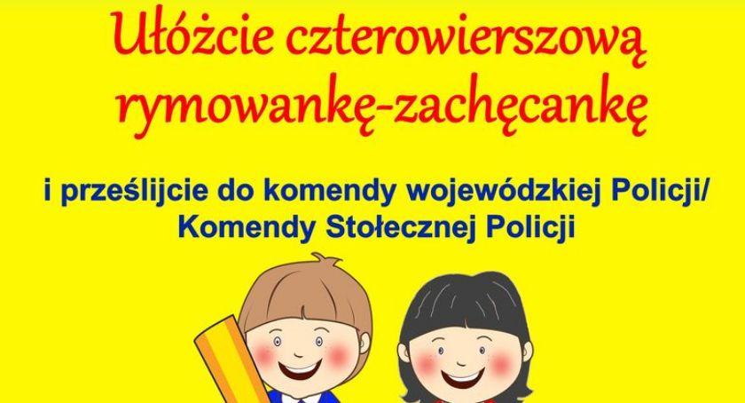 Policja - komunikaty i akcje, Konkurs Rymowanka zachęcanka - zdjęcie, fotografia